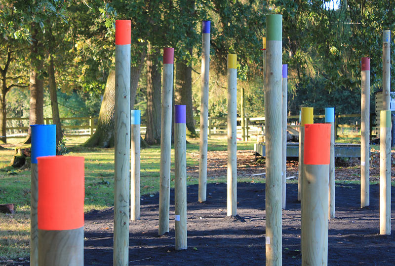 Barretstown, coloured posts, site specific