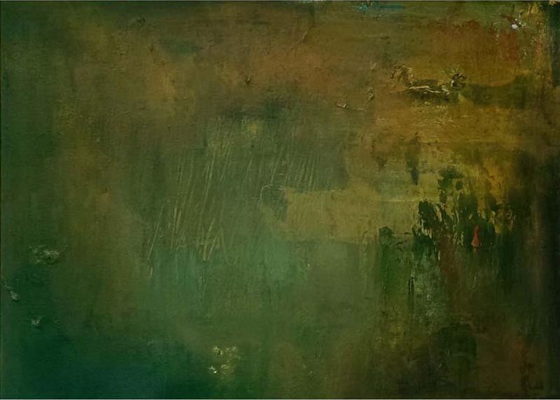 Ideal World, 2014. Mixed media on canvas. Dim. 50cm x 40cm.