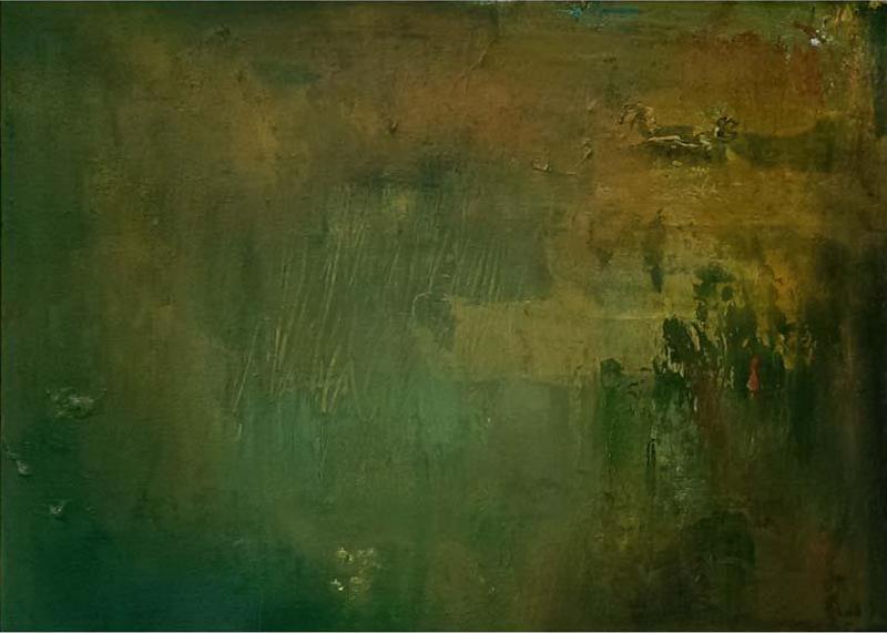 Ideal World, 2014. Mixed media on canvas. Dim. 50cm x 40cm.