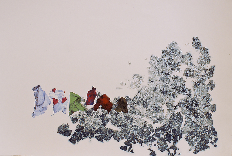 Little People III, 2010. Intaglio, digital print, Somerset paper. Dim. 70cm x 50cm