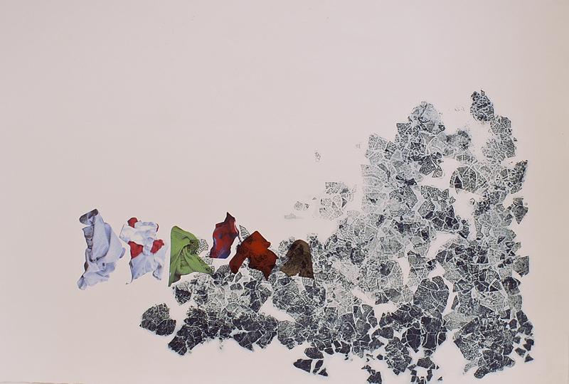 Little People III, 2010. Intaglio, digital print, Somerset paper. Dim. 70cm x 50cm