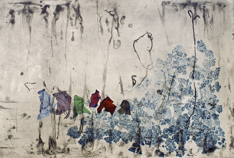 Little People V, 2010. Intaglio, digital print, Somerset paper. Dim. 70cm x 50cm
