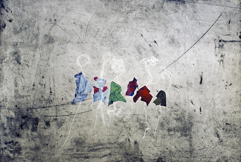 Little People I, 2010. Intaglio, digital print Somerset paper. Dim. 70cm-x-50cm