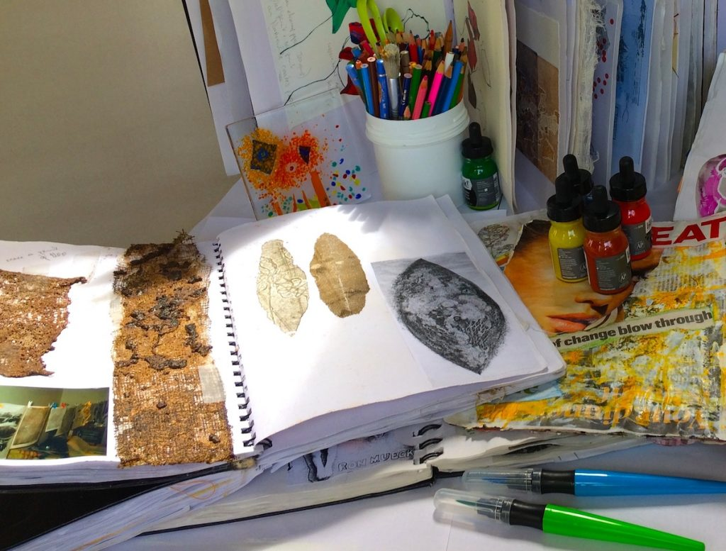 workshop on artist notebooks, creative journaling,