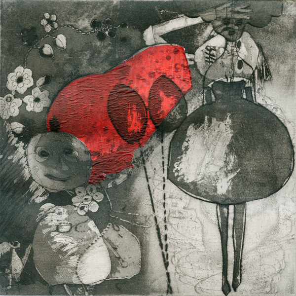 Palimpsest 2012. No 22 of 22. Intaglio and aquatint, print on Somerset paper. Dim. 30cm x 35cm