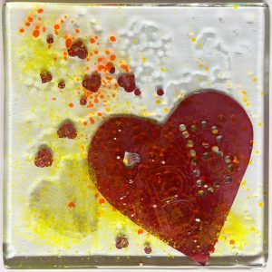 Beauty fused glass artwork