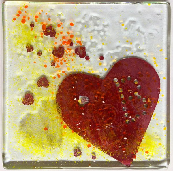 Beauty fused glass artwork