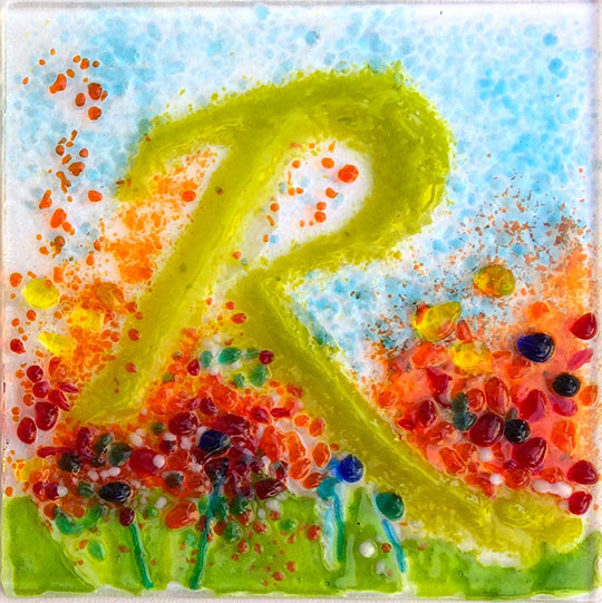 R is for... fused glass artwork