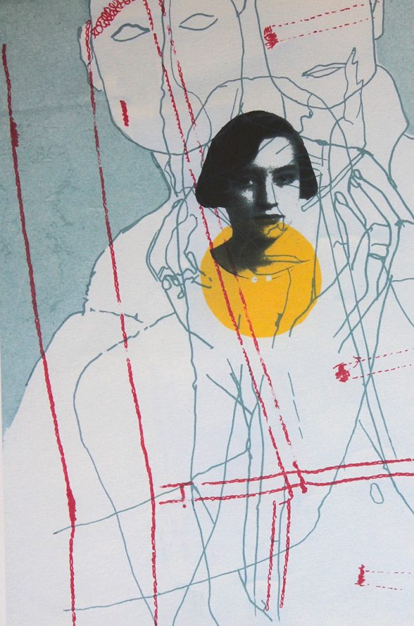 Katherina 1 Silkscreen and laser print on paper