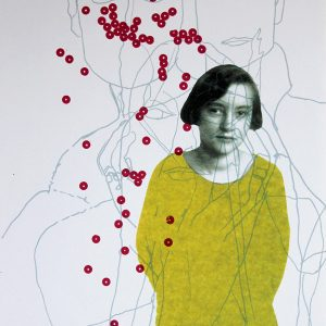 Katherina 3 Silkscreen and laser print on paper