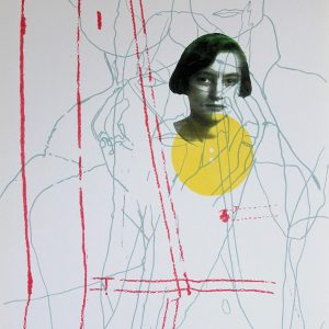 Katherina 5 Silkscreen and laser print on paper