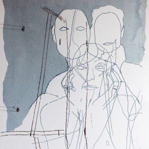 Michelle 1 Silkscreen print on Somerset paper