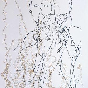 Michelle 3 Silkscreen print on Somerset paper