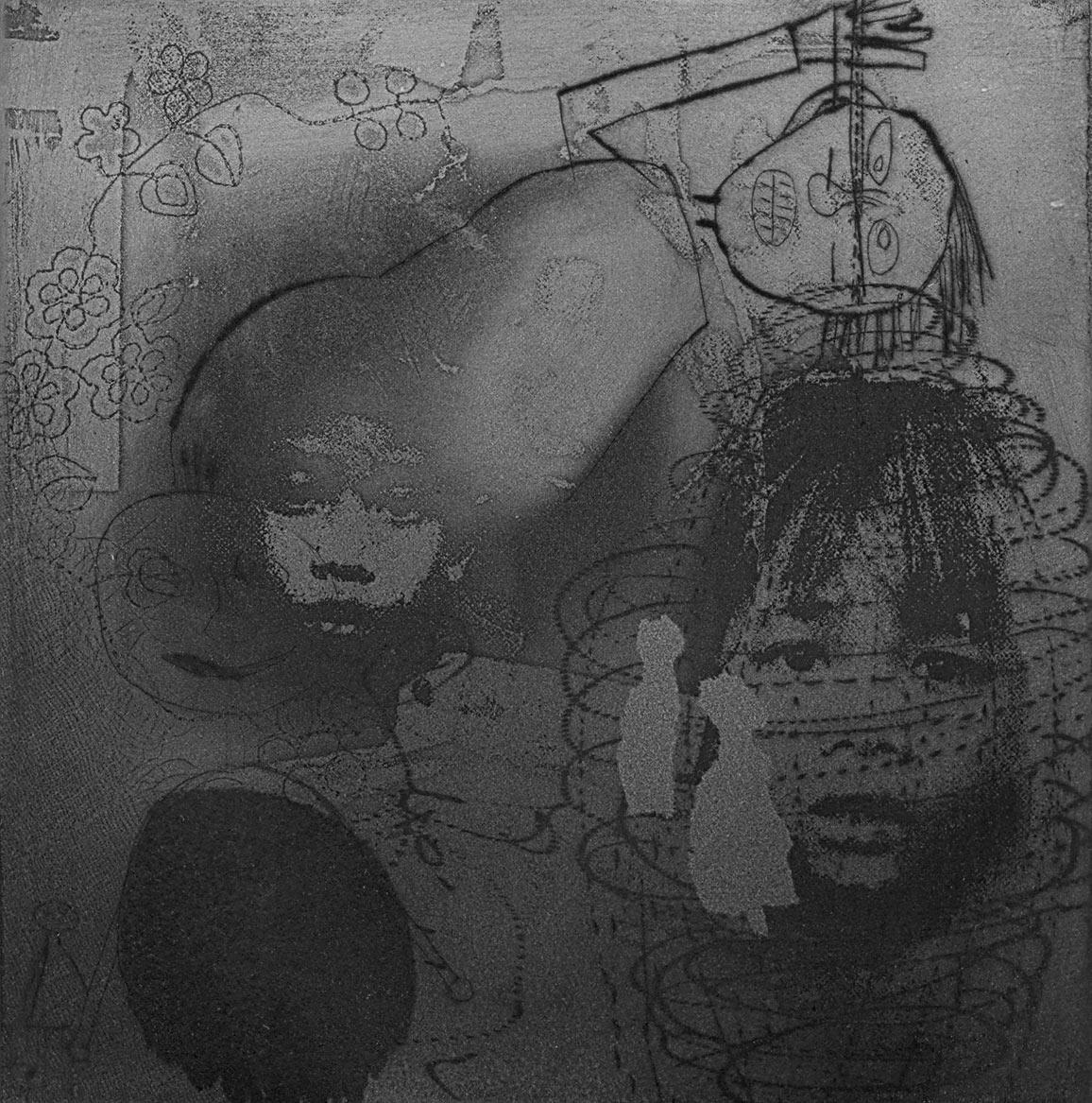 25cm x 25cm digital reproduction ofPalimpsest 12