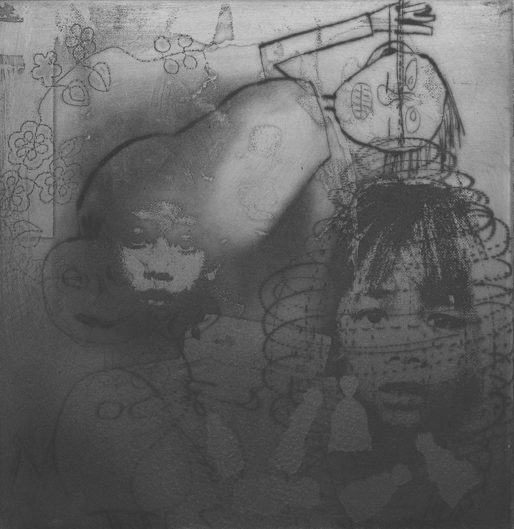 25cm x 25cm digital reproduction ofPalimpsest 15