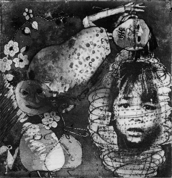 25cm x 25cm digital reproduction ofPalimpsest 18