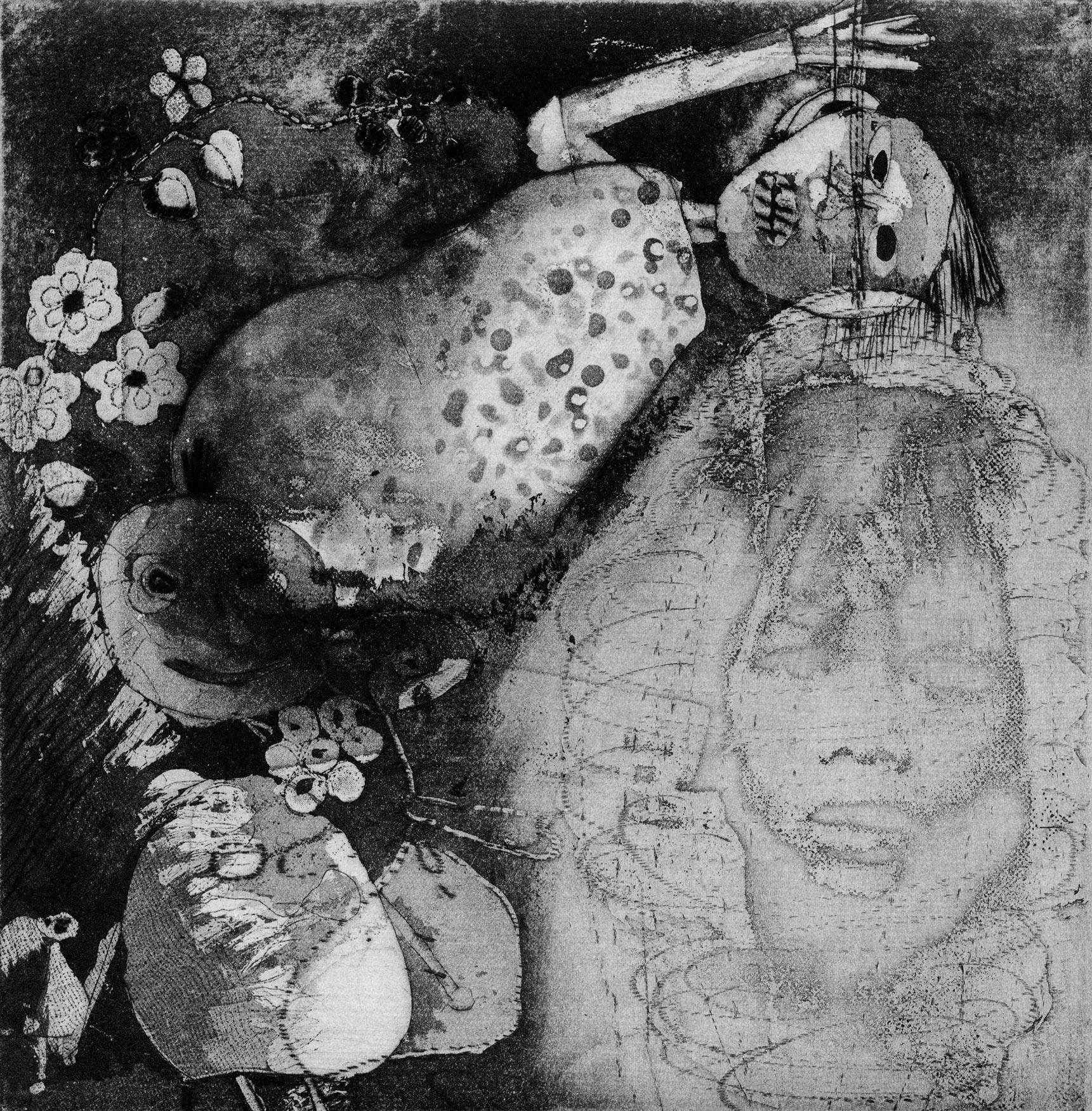 25cm x 25cm digital reproduction ofPalimpsest 20