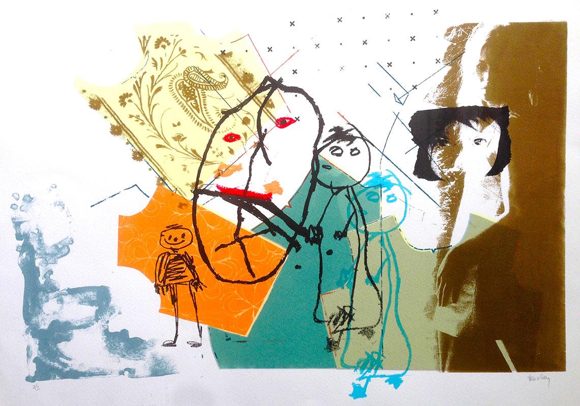 Lost 2008. Silkscreen print, Somerset paper. Dim. 35cm x 50cm
