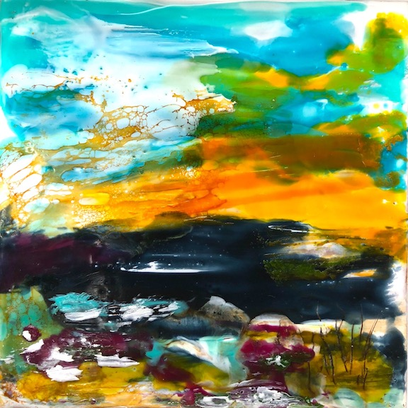 Encaustic painting with Isabelle