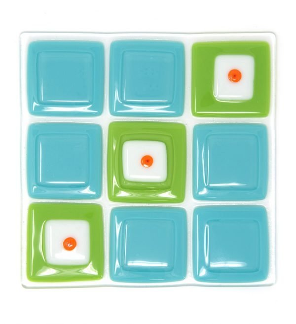 Square 1 fused glass artwork